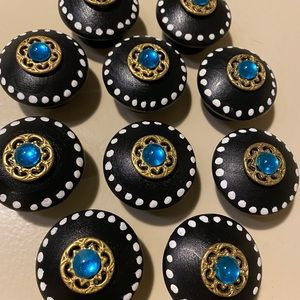 Hand Painted Wooden Knobs- 10